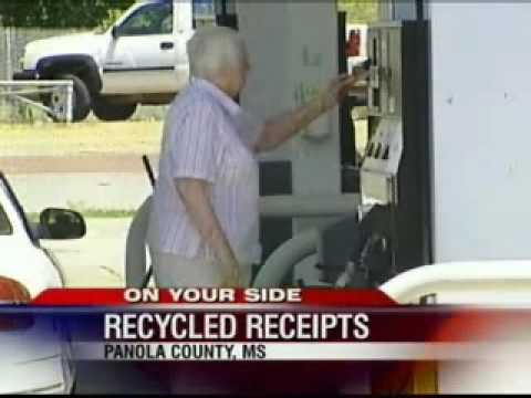 Gas Station Recycled Receipts Financial Identity Theft Panola County, MS