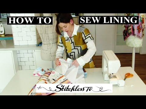 How to sew lining into a dress