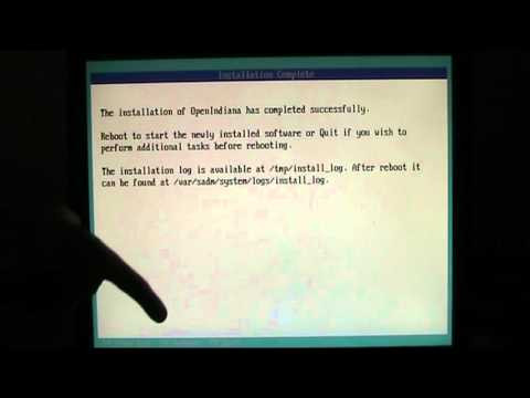 ZFS and OI - Part 3 - Installing the OS
