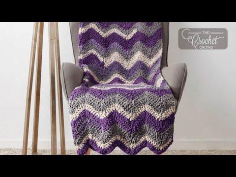 How to Crochet Chevron Stripe Blanket