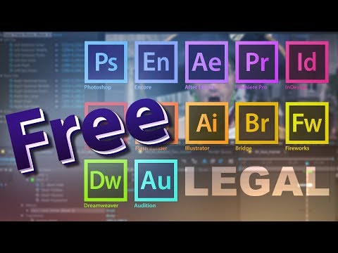 GET ANY ADOBE SOFTWARES FOR FREE (LEGALLY) (2018) PC-MAC