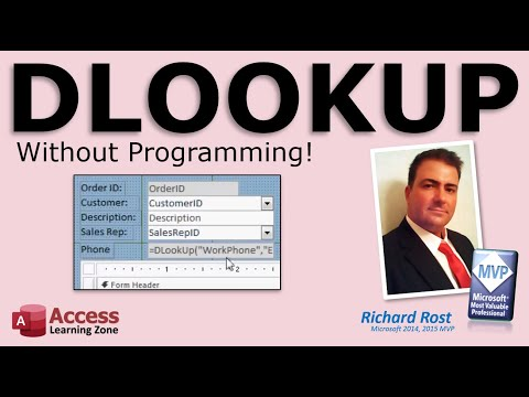 Microsoft Access DLOOKUP Without Programming