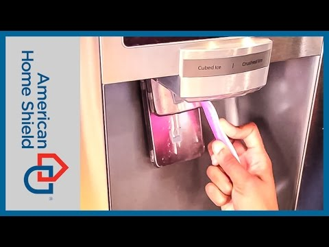 Fridge Repair - How To Clean Your Ice Dispenser - American Home Shield