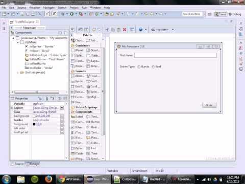 Java GUI Design w/ WindowBuilder Designer (Part 2 of 5)