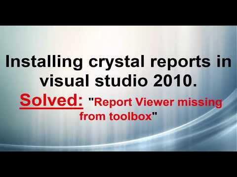 Install crystal reports in visual studio 2010
