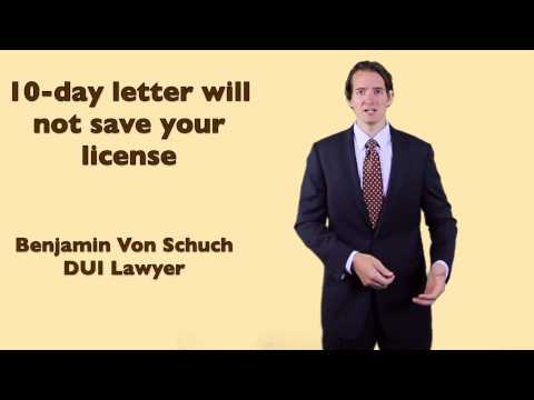 10 day letter will not save your license after a Georgia DUI. Atlanta DUI lawyer explains: