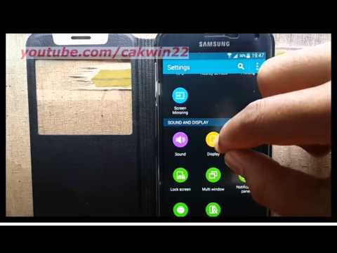 Samsung Galaxy S5 : How to change font style display (Android Phone)