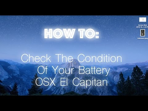 How To Check The Condition Of Your Battery In OSX El Capitan
