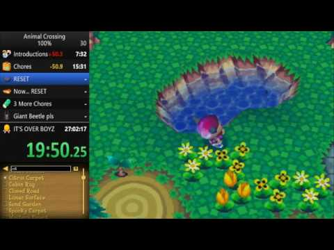 Animal Crossing 100% Speedrun in 22:49:58 [WR] (Part 2)