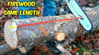 How to Cut Firewood Same Length? - Part 2
