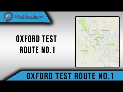 Oxford (Cowley) Driving Test Route No.1