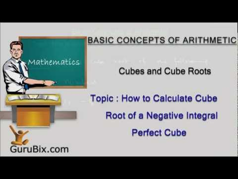 How to calculate cube root of a negative integral perfect cube | Cubes and cube roots | Math Lessons
