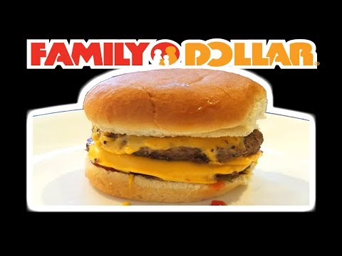 Family Dollar RESTAURANT QUALITY Double Quarter Pounder with Cheese!?!?