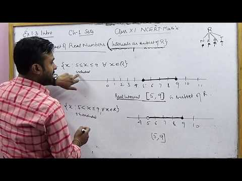 Real Interval, Power & Universal Set | CBSE 11 Math's NCERT Ex 1.3 Intro (Part 3)