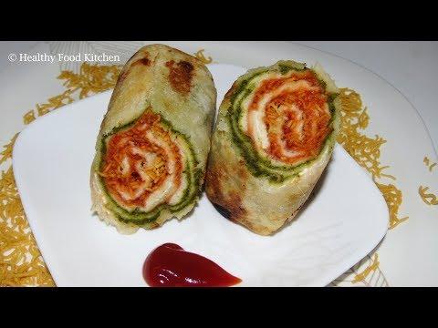 Evening Snacks Recipe in Tamil - Bread Roll Recipe - Stuffed bread roll recipe - Lunch box recipe