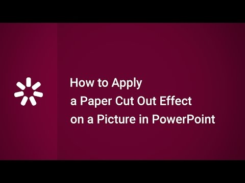 How to Apply a Paper Cut Out Effect on a Picture in PowerPoint