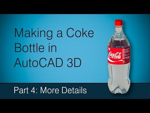 Making a Coke bottle in AutoCAD: Part 4 More Details