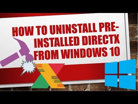 How to uninstall PRE-INSTALLED DirectX from Windows 10