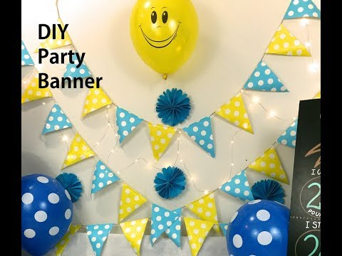 DIY Party banner | Colorful party flags