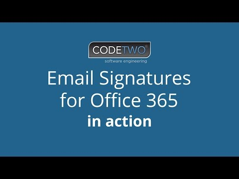 How to set up email signatures for Office 365 users with CodeTwo software