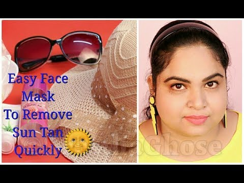 Easy Face Mask To Remove Sun Tan Quickly | Summer Face Mask | SresthaGhose |