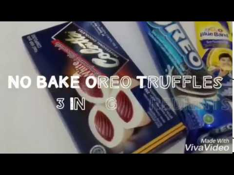NO BAKE OREO TRUFFLES-3 INGREDIENTS (Without Cream Cheese, Without Food Processor) #Indonesia