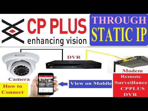 CP PLUS DVR Online Setup! Remote View Through Satic IP! How to Configure DVR with Mobile Phone!