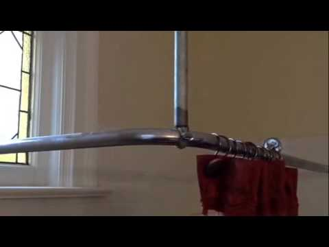 How to support shower curtain rod