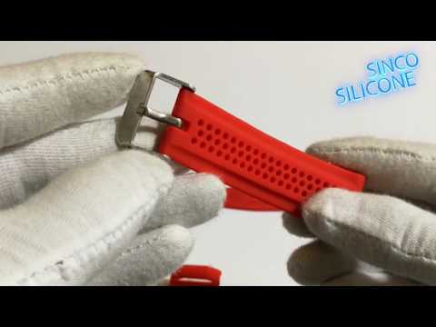 red silicone watch band / silicone rubber watch band strap