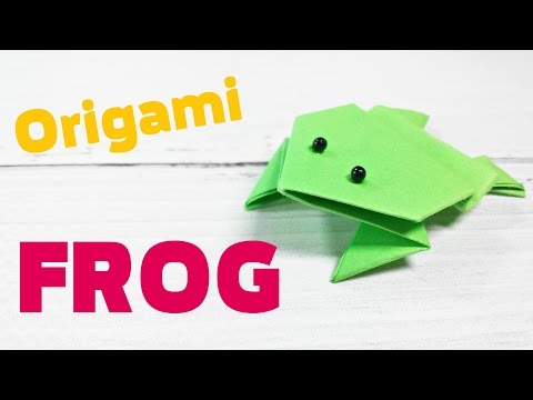 3d Origami origami animals frog that jumps easy step by step far base for kids,  for beginners
