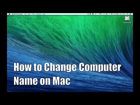 How to Change Computer Name on Mac OS X