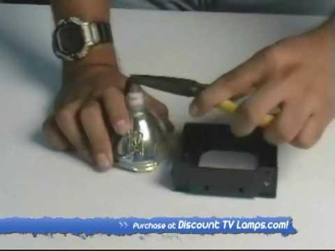 Hitachi UX21511, UX21513, UX21517, UX21518 Lamp Replacement Video Guide