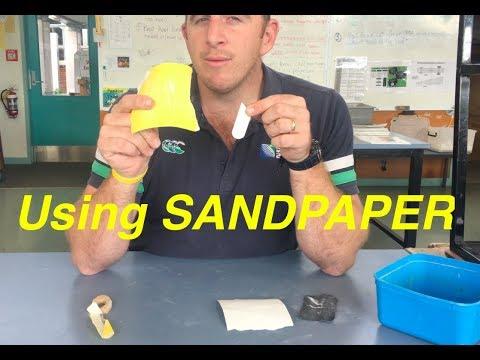 USING SANDPAPER