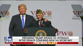 WATCH: Trump Brings 94-Year-Old Veteran on Stage, Invites Him to Oval Office
