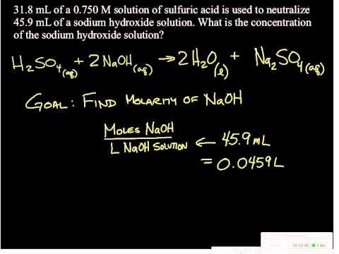 Acid-base titration problem 1