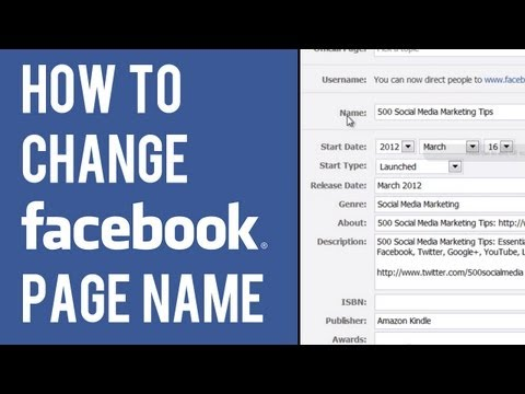 How to Change Facebook Page Name | Edit Name of Facebook Business Page
