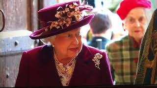 HM The Queen Arriving At Westminster Abbey - Commonwealth Day 2018