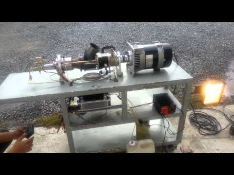 Turbine power generator on start up and shut down sequence