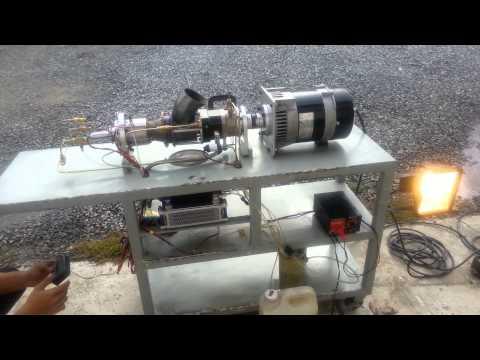 Turbine power generator on start up and shut down sequence
