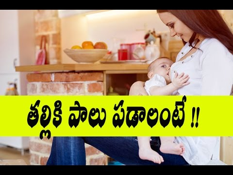 తల్లికి పాలు పడాలంటే || how to increase breastmilk supply home remedies | In Telugu