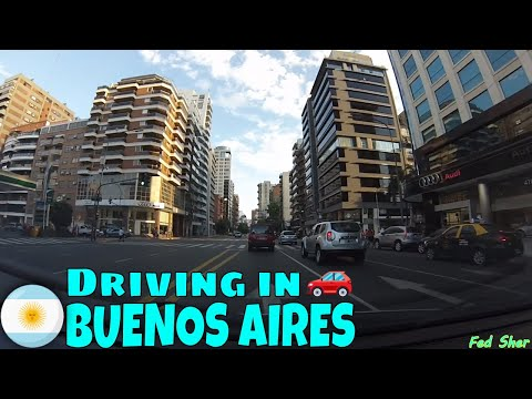 Driving in Buenos Aires (from La Lucila to Belgrano)