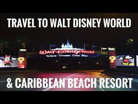 Travel to Walt Disney World & Arrival at Caribbean Beach Resort - WDW December 2017