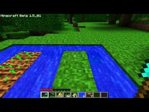 Minecraft: How to make farm (Farmland, Crops, Sugar Canes)