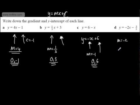 9-1 GCSE Maths - Equation of a Straight Line (2) y = mx + c linear graphs - Full Tutorial Higher