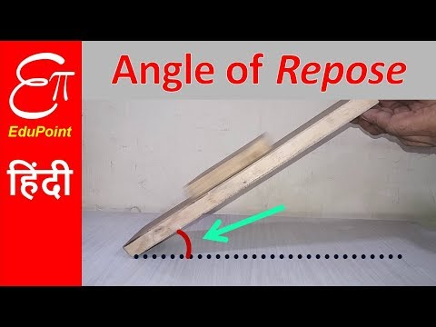 Angle of REPOSE or Angle of SLIDING | explained in HINDI