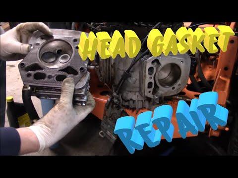 Replacing the head gaskets on a 19hp Kawasaki engine