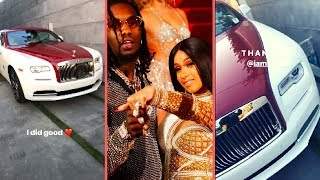 """Offset Reacts To Cardi B Buying Him A 2018 Rolls-Royce Wraith """"Cardi B Offset Show Off The Inside"""""""