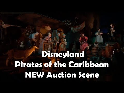 Disneyland - New Pirates of the Caribbean Auction Scene with Redd