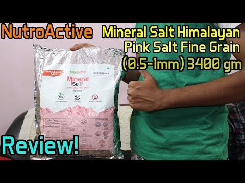 NutroActive Mineral Salt Himalayan Pink Salt Fine Grain | Review