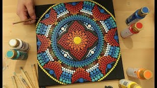 Dot painting mandala  Acrylic Painting  Process from